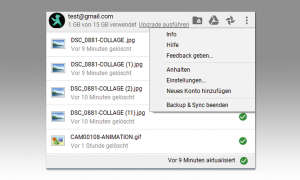 Google Fotos Bildverwaltung - infofenster google drive