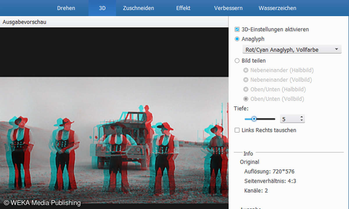 Tipard Total Media Converter - 3D-Anaglyph-Wandlung
