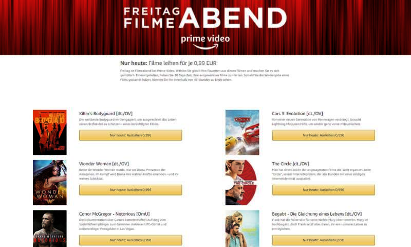 Amazon Video 99 Cent Freitag
