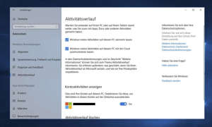 Windows 10: Timeline aktivieren