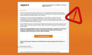 Amazon Phishing-Mail Warnung Vebraucherzentrale