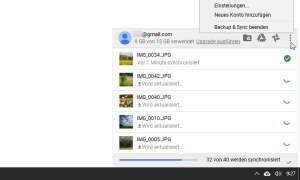Google Fotos Backup & Sync Upload