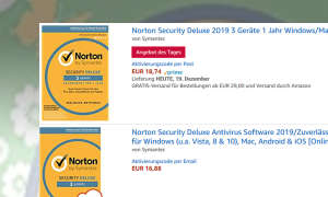 Norton Security Deluxe 2019 im Amazon-Angebot