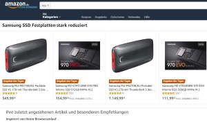 Samsung SSD Angebot des Tages Amazon