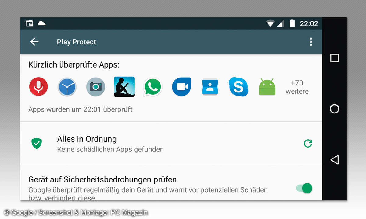 Android Antiviren-Apps Vergleich: Play Protect