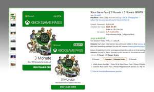 Game Pass bei Amazon im Angebot