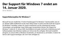 Windows 10: Kostenlos installieren - Windows 7 Support-Ende