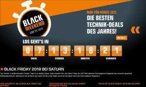 Black Friday 2019: Saturn-Angebote zum Black Weekend