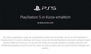 PS5: Offizielle Webseite