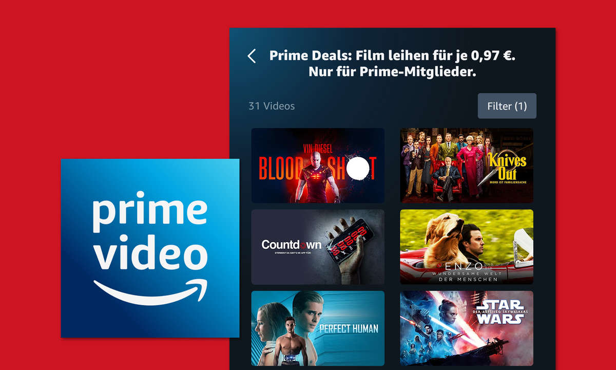 amazon prime knives out star wars deal