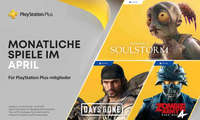 Abbildung der PS-Plus-Titel im April 2021: Oddworld: Soulstorm, Days Gone und Zombie Army 4