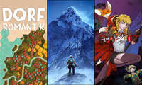 Indie-Titel 2021: Dorfromantik, Insurmountable und Scarlet Hood and the Wicked Wood.