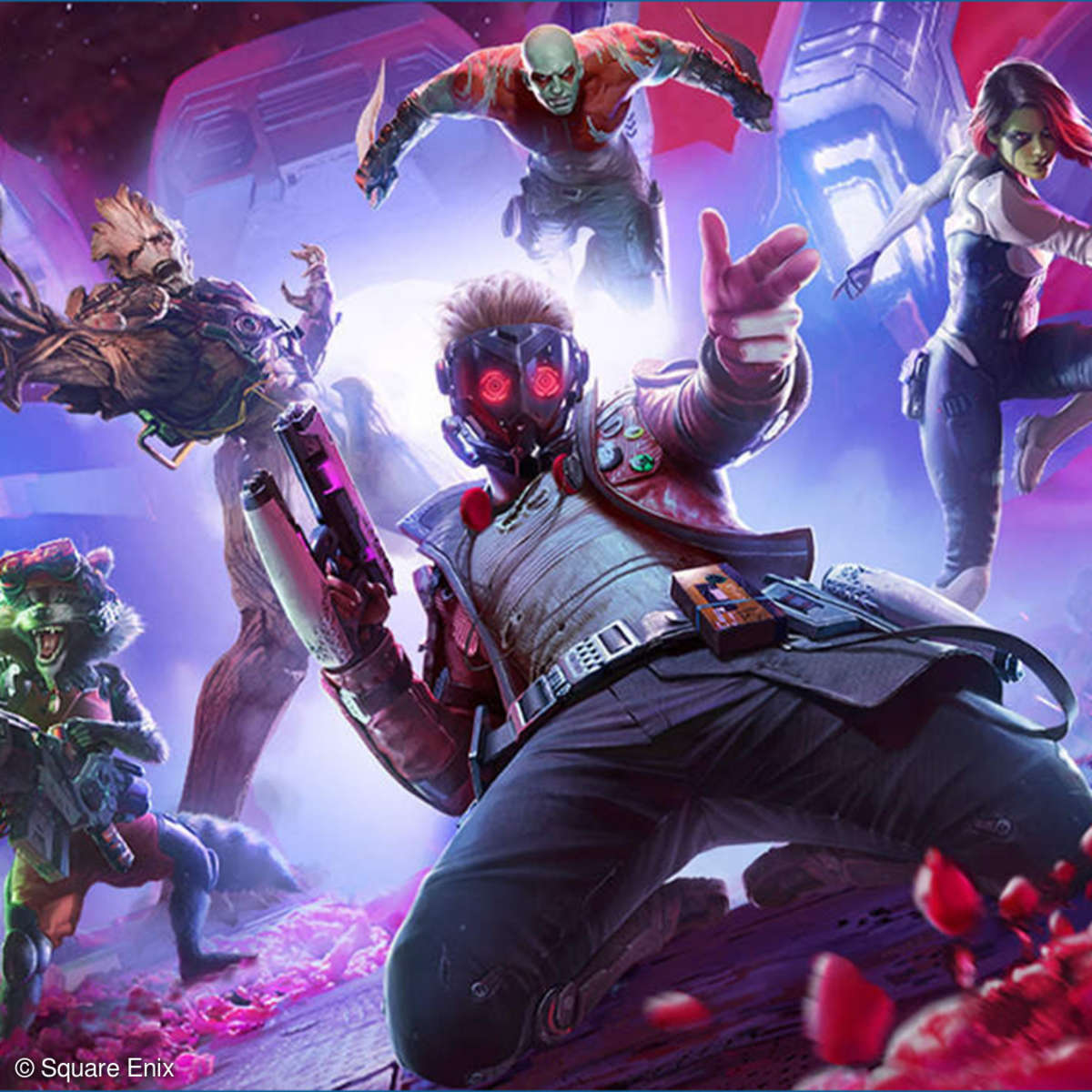 Die Guardians of the Galaxy in Actionpose