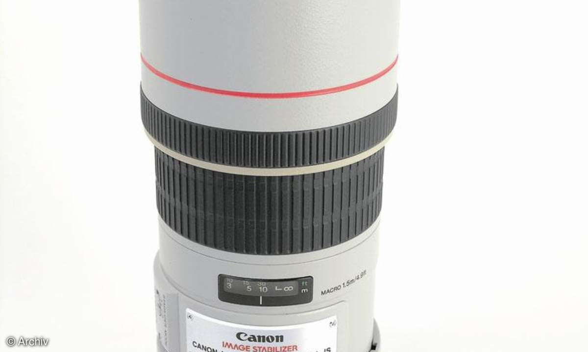 Canon EF 4/300 mm L IS USM an Canon EOS 450D