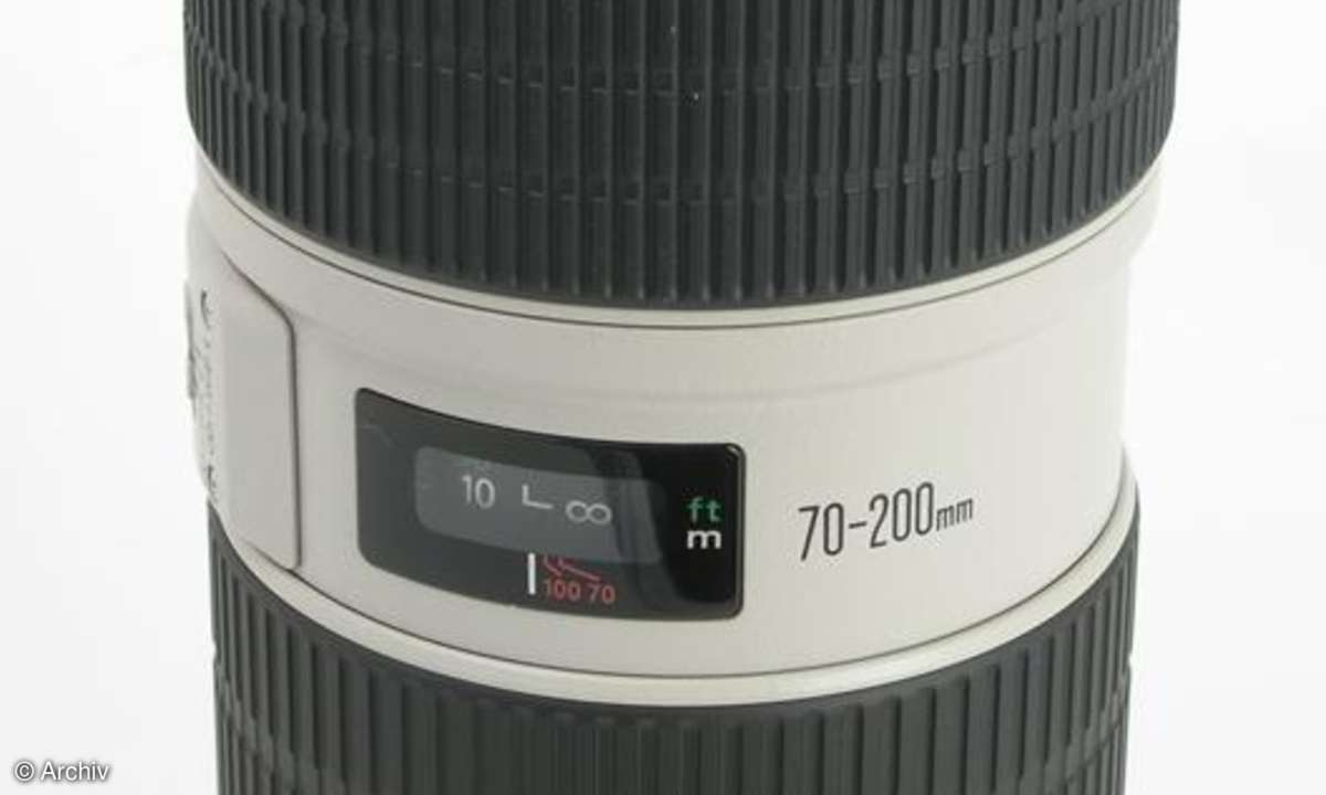 Canon EF 2,8/70-200 mm L IS USM an Canon EOS 450D