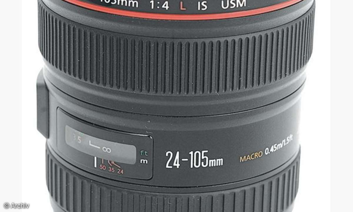 Canon EF 4/24-105 mm L IS USM an Canon EOS 450D