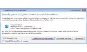 Anwendungen unter Windows 7 Beta