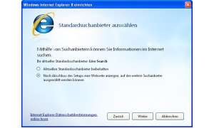 Internet Explorer 8: Konfigurations-Assistent