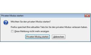 Firefox 3.5: Privater Modus