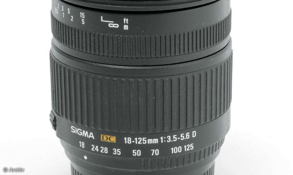 Sigma 3,8-5,6/18-125 mm DC HSM IF OS an Canon EOS 450D
