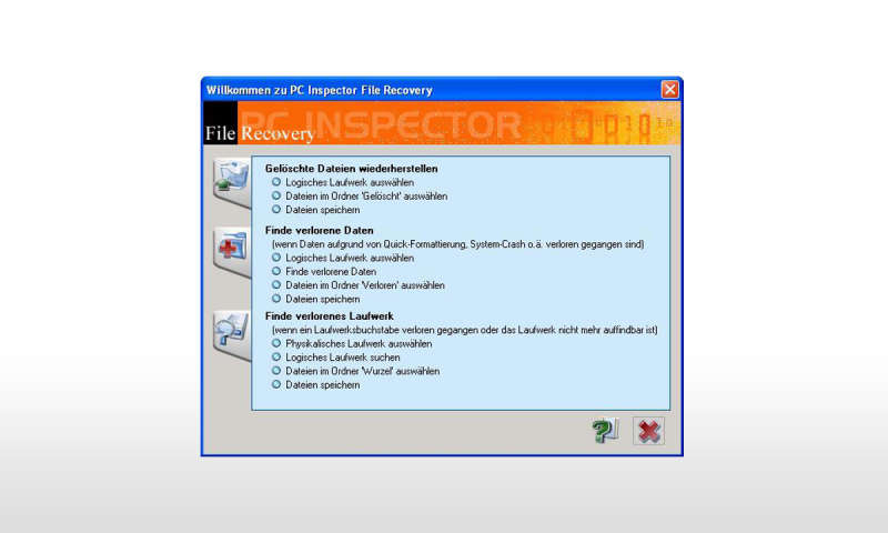 Pc inspector file recovery