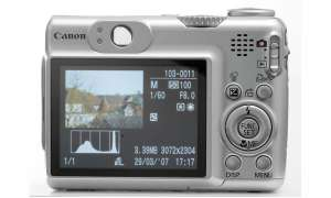 Canon Powershot A570IS Display
