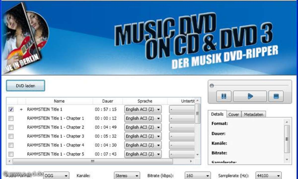 Music DVD on CD and DVD