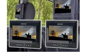 Portabler Design-DVD-Player mit 2 Displays 18 cm/7""