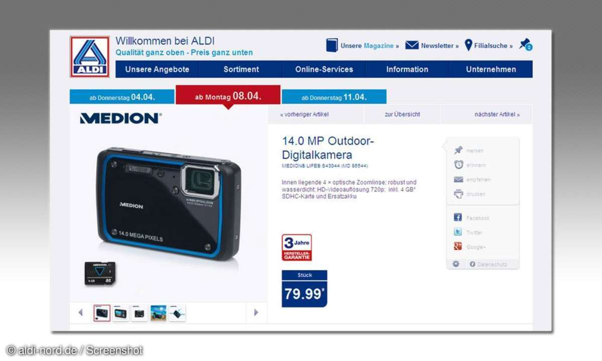 Medion Life S43044 (MD86544) bei Aldi Nord