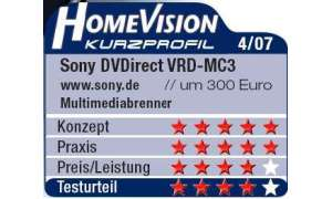 Multimediabrenner: Sony DVDirect VRD-MC3