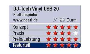 Wertung: DJ-Tech Vinyl USB 20