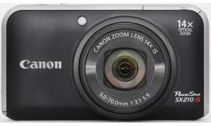 Canon Powershot SX210 IS Frontansicht