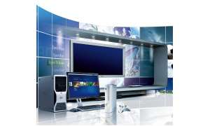 pc, fernseher, media center