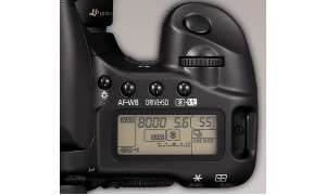 Canon EOS 30D Bedienelemente/Display