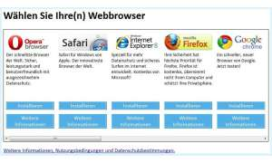 Microsoft Browser-Auswahldialog