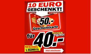 Gutschein-Aktion Media Markt