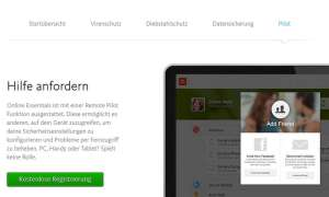 Screenshot Avira Online Essentials Pilot
