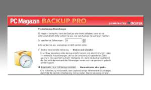 Screenshots aus PC Magazin Backup Pro