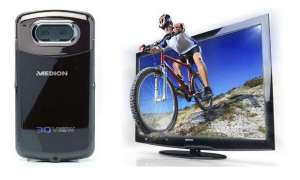 Medion 3D TV Camcorder HD LCD LED 200 Hz CeBIT