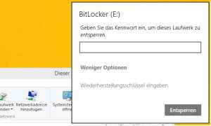 Screenshot Windows Bitlocker