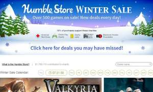 Screenshot: Humble Bundle Winter Sale