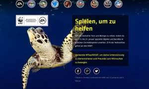 Screenshot: EA & WWF Aktion
