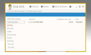 Disk Drill Free: Screenshot