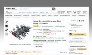 Wenger Schweizer Offiziersmesser, Amazon Rezension