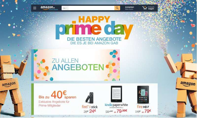 prime day top angebote des tages bei amazon pc magazin. Black Bedroom Furniture Sets. Home Design Ideas
