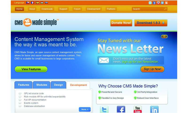 Online Redaktionssystem Cms Made Simple Pc Magazin