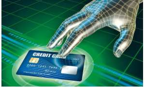 cyber, hand, credit card, internet, sicherheit, kreditkarte