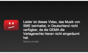 Youtube GEMA-Text