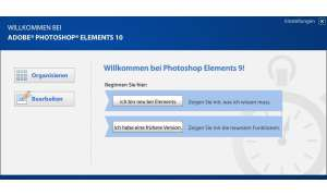 Adobe Photoshop Elements 10 - Startscreen
