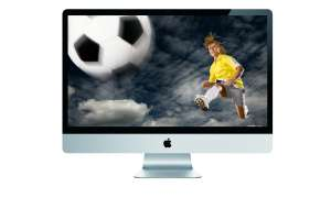Apple TV Fernseher Fussball iMac PC Computer iPad iPod iPhone